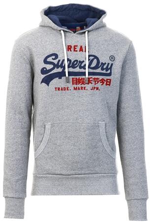 Superdry Pheonix Grey Grit Vintage Label Premuim Goods Heat Sealed Hood  - Click to view a larger image
