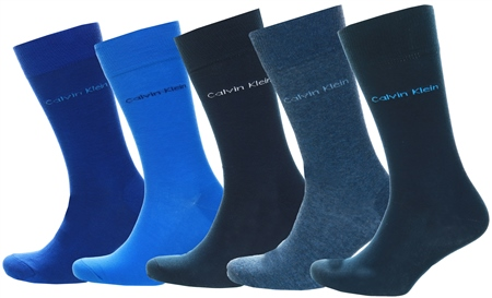 Calvin Klein Navy 5 Pack Crew Socks Gift Set  - Click to view a larger image