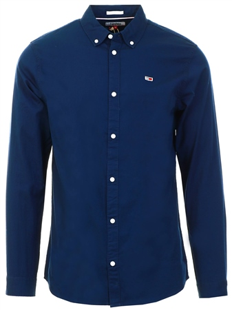 Tommy Jeans Black Button Down Collar Shirt  - Click to view a larger image