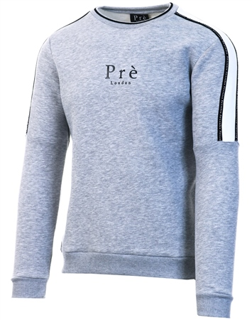 Pre London Grey Impulse Crew Sweat  - Click to view a larger image