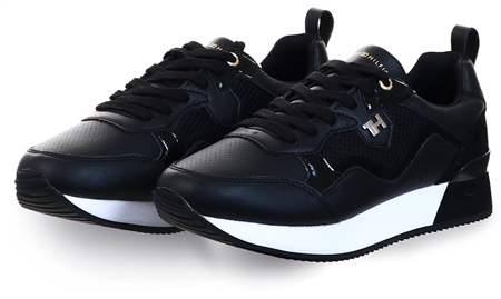 Tommy Jeans Black City Trainers  - Click to view a larger image