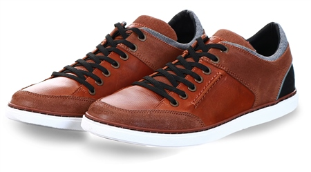 Bull Boxer Tan Lace Up Shoe  - Click to view a larger image