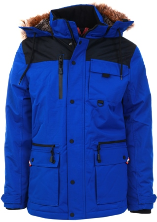 Tokyo Laundry Blue Hooded Coat  - Click to view a larger image