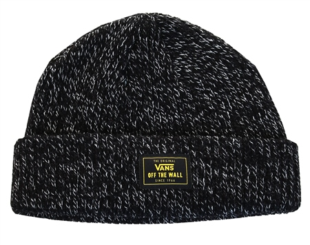 Vans Black Bruckner Cuff Beanie  - Click to view a larger image