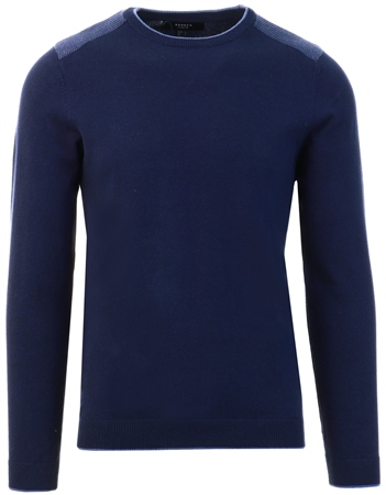 Broken Standard Navy Crew Knit Jumper  - Click to view a larger image
