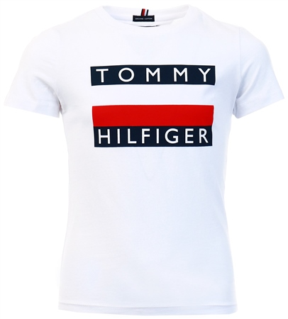 Tommy Jeans White Essential Organic Cotton T-Shirt  - Click to view a larger image