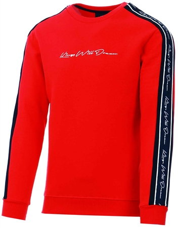 Kings Will Dream Red / Black / White Rosley Sweatshirt  - Click to view a larger image