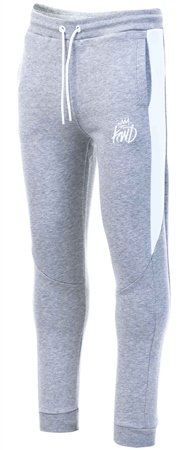 Kings Will Dream Grey / White Taylor Jog Pant  - Click to view a larger image