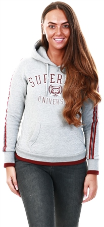 Superdry Grey Marl University Hoodie  - Click to view a larger image