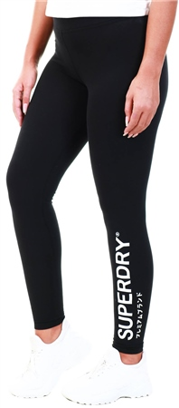Superdry Black The Logo Legging  - Click to view a larger image