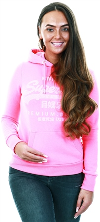 Superdry Pink Premium Tonal Infill Entry Hoodie  - Click to view a larger image
