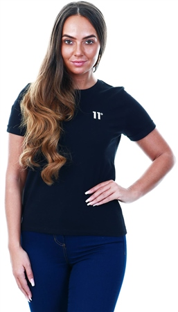 11degrees Black Black Core Tee  - Click to view a larger image