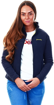 Superdry Navy Storm Urban Fleece Jacket  - Click to view a larger image