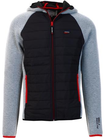 Jack & Jones Grey Toby Hybrid Jacket  - Click to view a larger image
