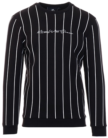 Kings Will Dream Black Clifton Pinstripe Sweatshirt  - Click to view a larger image