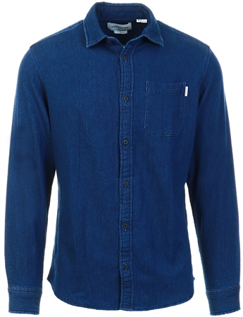 Jack & Jones Blue Single Pocket Shirt  - Click to view a larger image