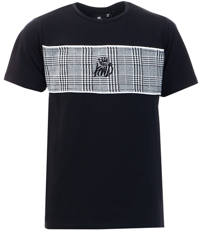 Kings Will Dream Black Junior Milltown Checked T-Shirt  - Click to view a larger image
