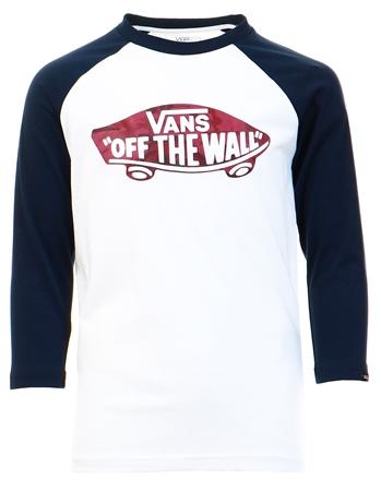 Vans White-Dress Blues-Port Royale Camo Kids Otw Raglan T-Shirt  - Click to view a larger image