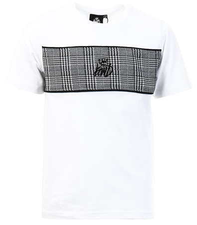 Kings Will Dream White Junior Milltown Check T-Shirt  - Click to view a larger image