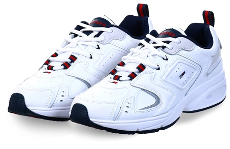 Hilfiger Denim White Heritage Retro Trainers  - Click to view a larger image