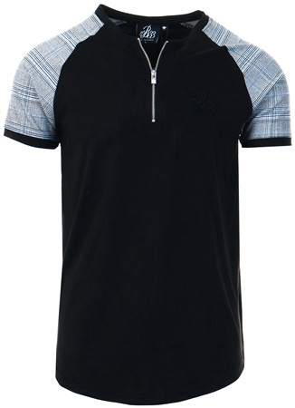 Bee Inspired Black /Checked Suede Tee  - Click to view a larger image