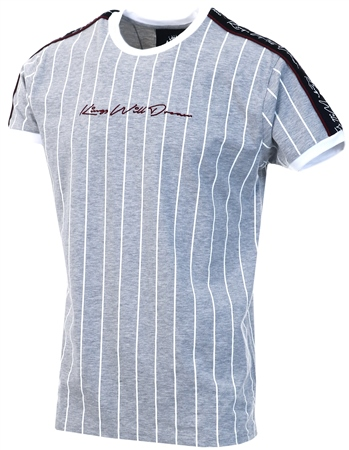 Kings Will Dream Grey Rifton Pinstripe T-Shirt  - Click to view a larger image