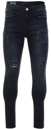 Bee Inspired Black Marek Relaxed Fit Jeans  - Click to view a larger image