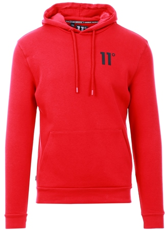 11degrees Ski Patrol Red Core Pullover Hoodie  - Click to view a larger image