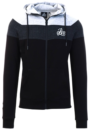 Bee Inspired Black Zip Up Hoodie  - Click to view a larger image