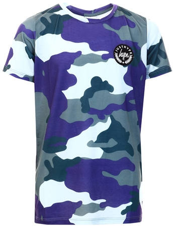 Hype Forest/Blue Camo Kids T-Shirt  - Click to view a larger image