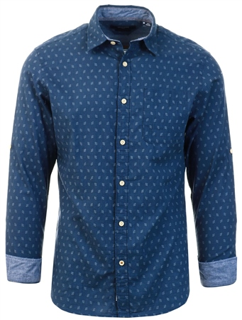 Jack & Jones Indigo One-Pocket Shirt  - Click to view a larger image