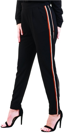 Jdy Black / Black Track Trousers  - Click to view a larger image