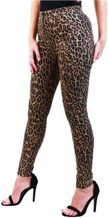 Brave Soul Leopard Print Pattern Skinny Jeans  - Click to view a larger image