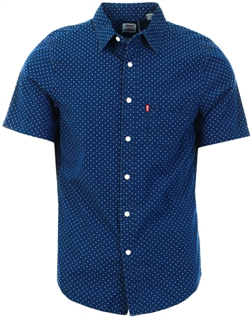 Levi's Navy Sunset Printed Short Sleeve Shirt  - Click to view a larger image