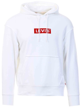 Levi's Boxtab Po White - Neutral Relaxed Graphic Hoodie  - Click to view a larger image