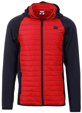 Jack & Jones Rio Red Quilt Hybrid Jacket  - Click to view a larger image