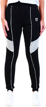11degrees Black/Grey Marl/White Panel Joggers  - Click to view a larger image