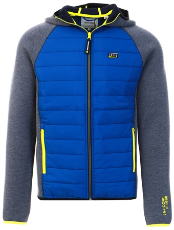 Jack & Jones Navy Padded Front Quilted Jacket  - Click to view a larger image