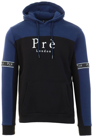 Pre London Black/Navy Eclipse Hoodie  - Click to view a larger image