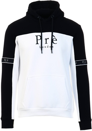Pre London White/Black Eclipse Hoodie  - Click to view a larger image