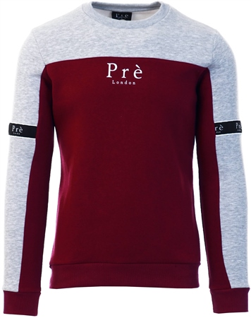 Pre London Port/Grey Eclipse Crew Sweat  - Click to view a larger image