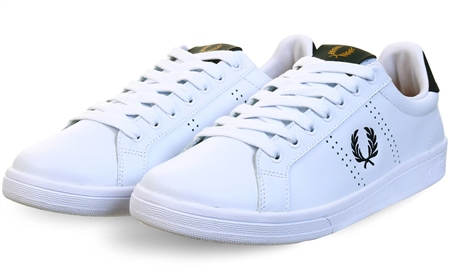 Fred Perry White B721 Leather Trainer  - Click to view a larger image