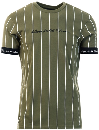 Kings Will Dream Khaki Clifton Pinstripe T-Shirt  - Click to view a larger image