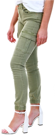 Only Green / Oil Green Regular Cargo Trousers  - Click to view a larger image