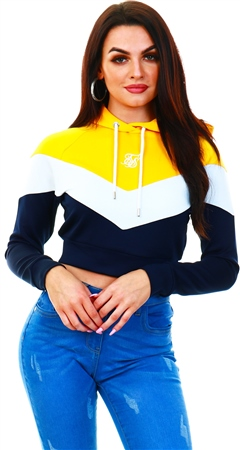 Siksilk Peacoat Retro Sports Track Top  - Click to view a larger image