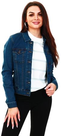 Veromoda Blue / Medium Blue Denim Short Denim Jacket  - Click to view a larger image