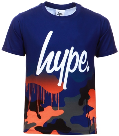 Hype Multi Camo Drips Fade Kids T-Shirt  - Click to view a larger image