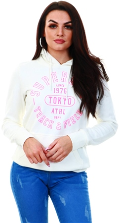 Superdry Cream Track Field Hoodie  - Click to view a larger image