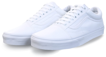 Vans White Old Skool Shoes  - Click to view a larger image