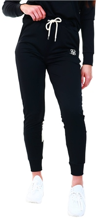 Siksilk Black Leopard Panel Track Pants  - Click to view a larger image